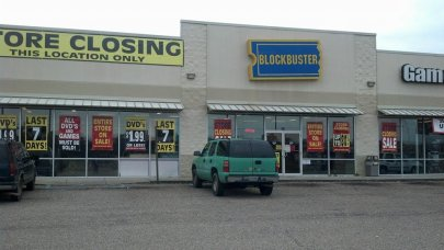 One of the last BlockBuster video stores, just days before closing in southern MS.