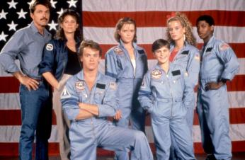 SPACECAMP, Tom Skerritt, Kate Capshaw, Tate Donovan, Lea Thompson, Joaquin Phoenix, Kelly Preston, Larry B. Scott, 1986, TM and Copyright (c)20th Century Fox Film Corp. All rights reserved.